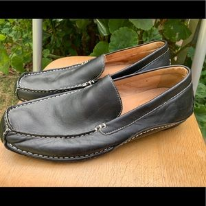 APT 9 Men's Black Leather Loafers Sz 12